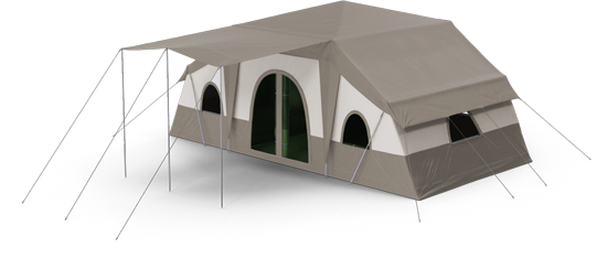 bush camps 3d illustration