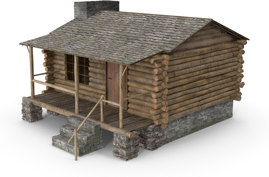 cabin-3d-illustration